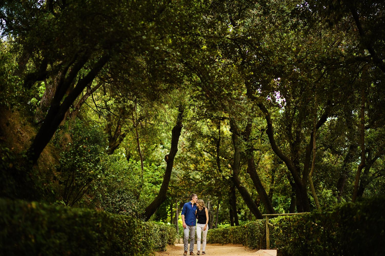 Preboda en el laberinto de Horta Barcelona
